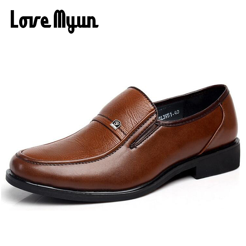 Brand High Quality Fashion Men Leather Shoes Casual Leather Men Flats, Leather Men Loafers, Men Business Dress Shoes Brown DD-12 new men s fashion casual shoes high quality genuine leather comfortable loafers for men flats shoes brand taima 40 45