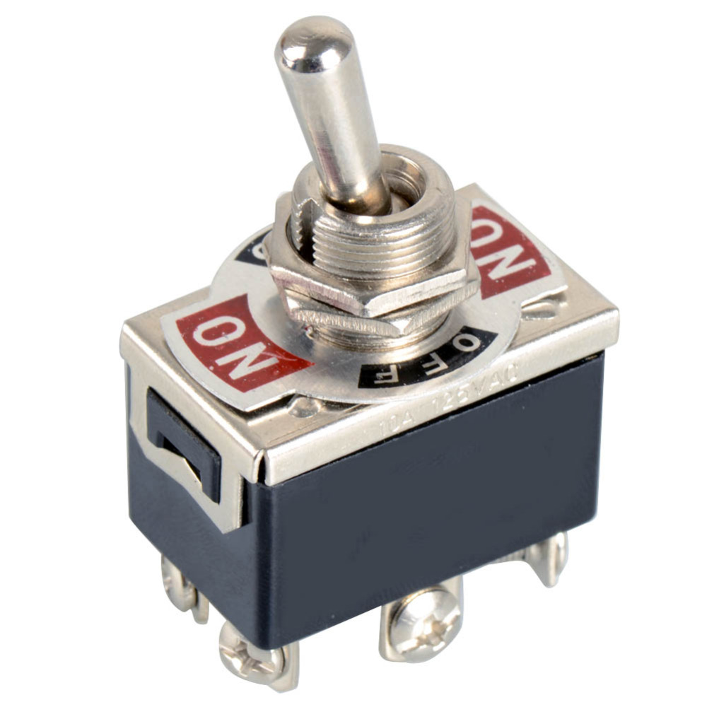 цена на 1xBlack 6-Pin Toggle DPDT ON-OFF-ON Switch 15A 250V Mini Switches E-TEN1322 VE066 P
