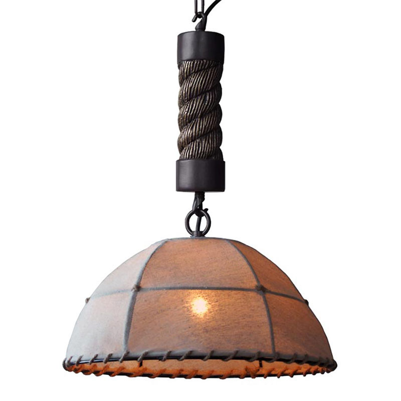 Loft Retro Industrial Linen Hemp Rope Cloth E27 Edison Pendant Lamp Fixtures Antique Metal Led Pendant Lights for Dining Room hemp rope chandelier antique classic adjustable diy ceiling spider lamp light retro edison bulb pedant lamp for home