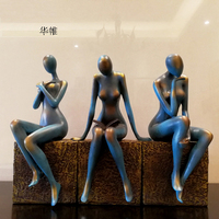 Nordic Modern Abstract Figure Beauty Statue, Resin Sculpture, Creative Decoration, Home Decoration Accessories, Handicrafts