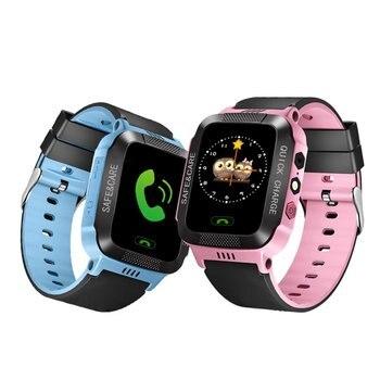 Y21 Crianças GPS Relógio Inteligente com Câmera SOS Rastreador Monitor Touch Screen relógio Inteligente Chamada Do Cartão SIM para iOS Android telefone