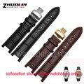 Preto 20*11mm e 22*13mm Relógio do couro de Alta qualidade Genuine leatherwatchband strap para GC com steelbutterfly fivela inoxidável