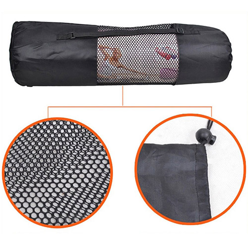 Portable Useful Pilates Nylon Yoga Mat Bag Carrier Mesh