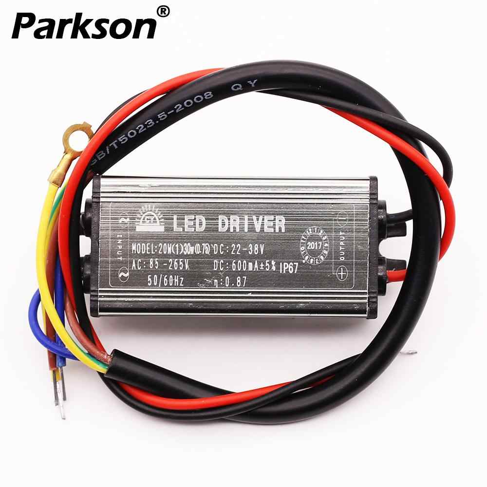 24V LED Driver 10W 20W 30W 50W Convert AC 85-265v To DC 22-38v LED Driver For Flood Light Floodlight IP67 No Flicker power