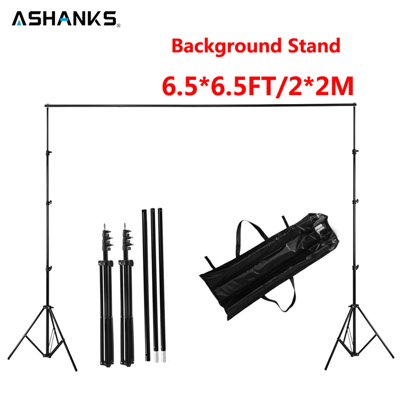 ASHANKS 6.5FT Background Stand Studio Pro Photography Photo Video Backdrop Support System with Carry Bag for Camara Fotografica ashanks photography backdrops white screen 3 6m photo wedding background for studio 10ft 19ft backdrop for camera fotografica