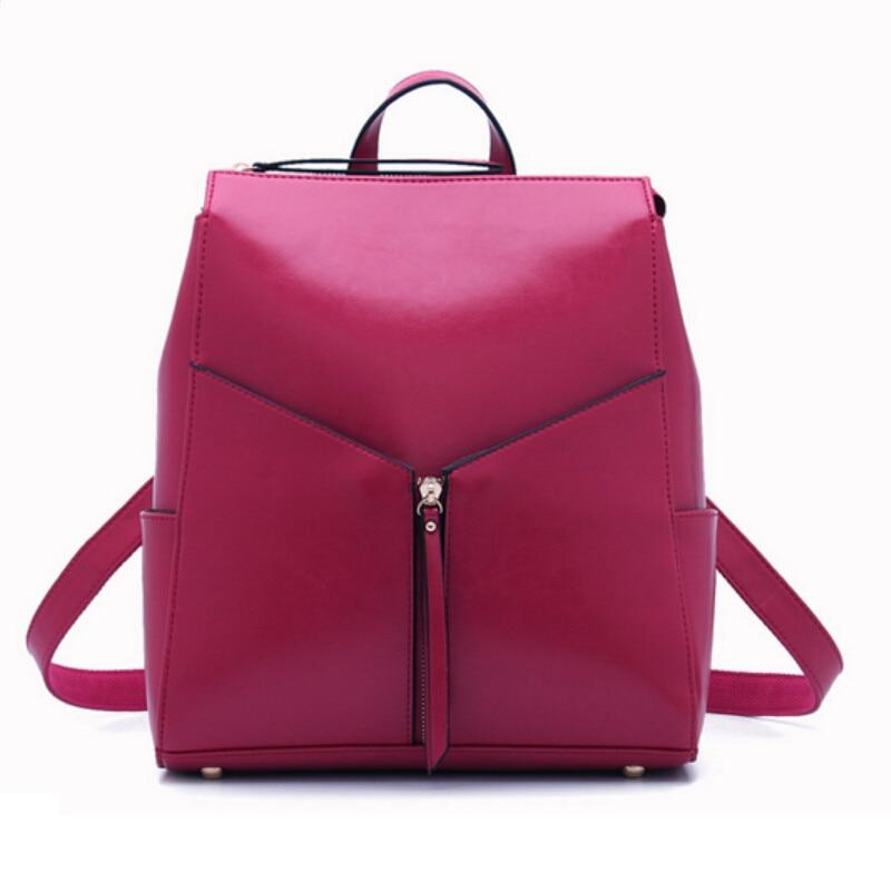 Aliexpress.com : Buy women leather backpack for girls female ...