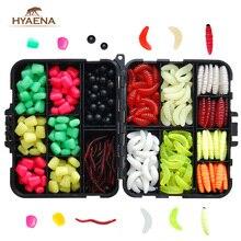 Hyaena 220pcs Carp Fishing Tackle Kit Soft Lures Mixed Beads and Lures Imitation Baits With Box