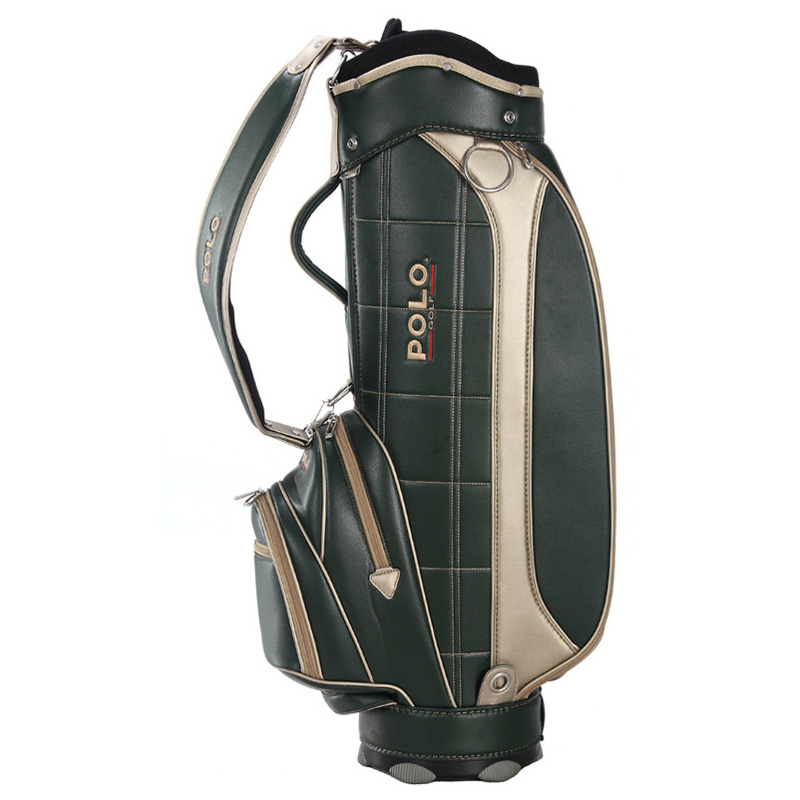 Brand POLO Golf Standard Bag with Cover Cart Bag Men Waterproof PU Standard Bag Super Anti-Friction Capacity11-13 Clubs Package