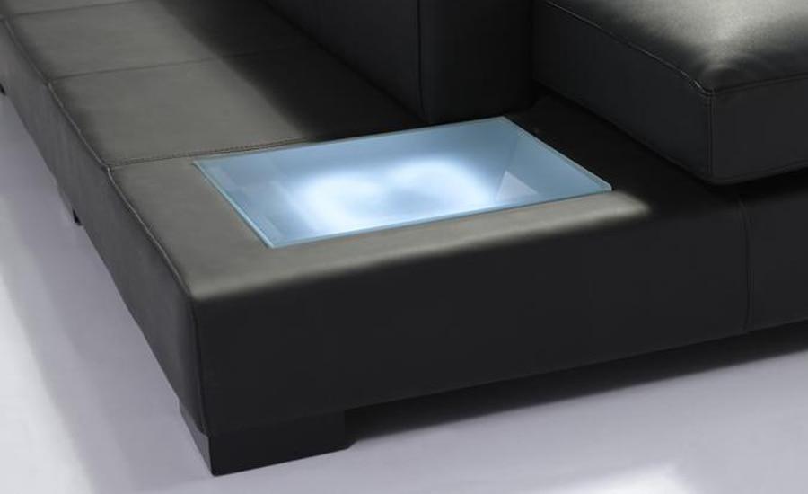 Melns ādas dīvāns Mūsdienu liela izmēra U formas dīvānu - Mēbeles - Foto 3