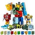 10 шт. трансформационный номер робот деформационные фигурки город DIY творческие строительные блоки наборы друзей LegoINGs Creator игрушки подарки