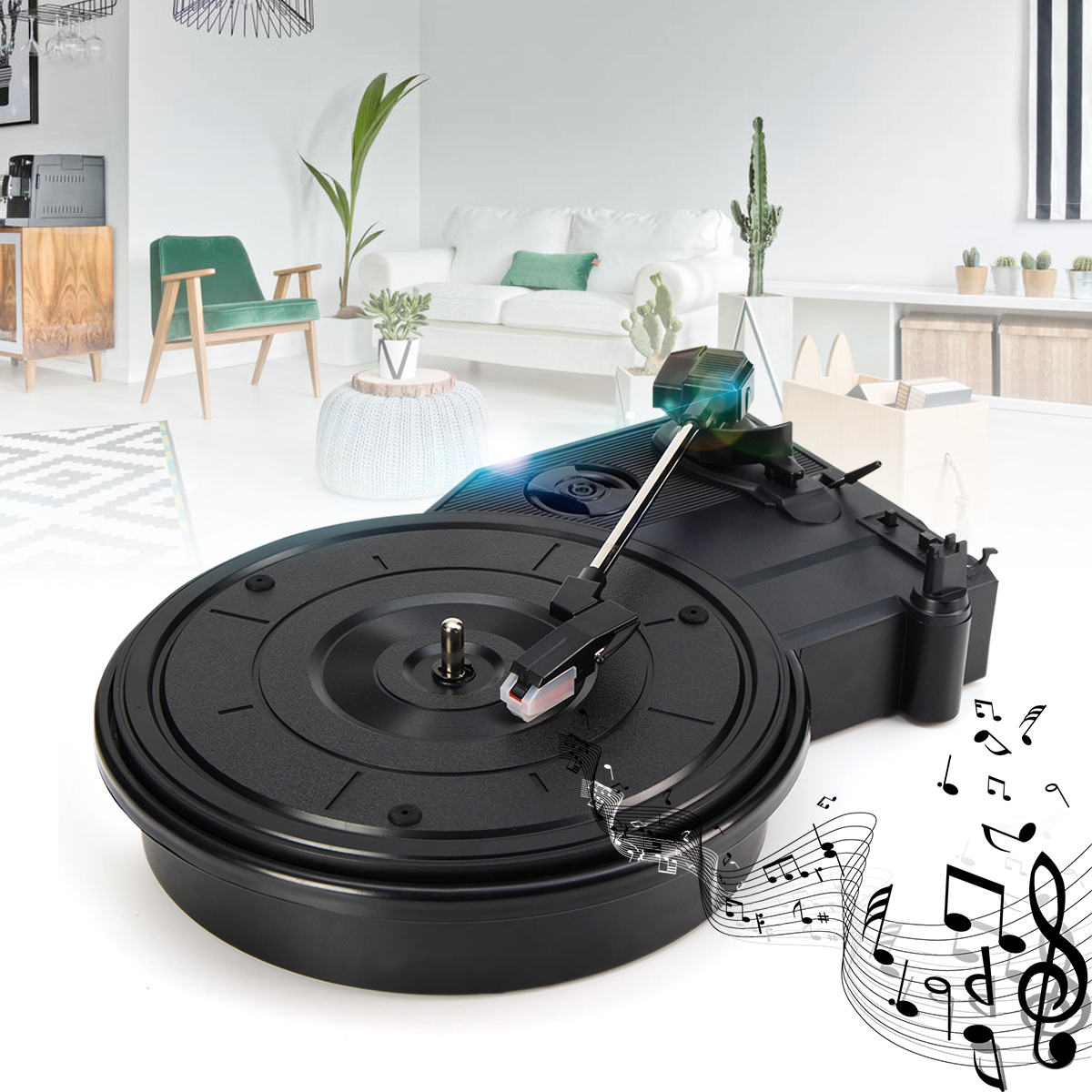 Huaxie HX115 Vintage USB Vinyl Record Player Turntable Stereo Vinyl Record to PC Converter 220V black tape recorder все цены