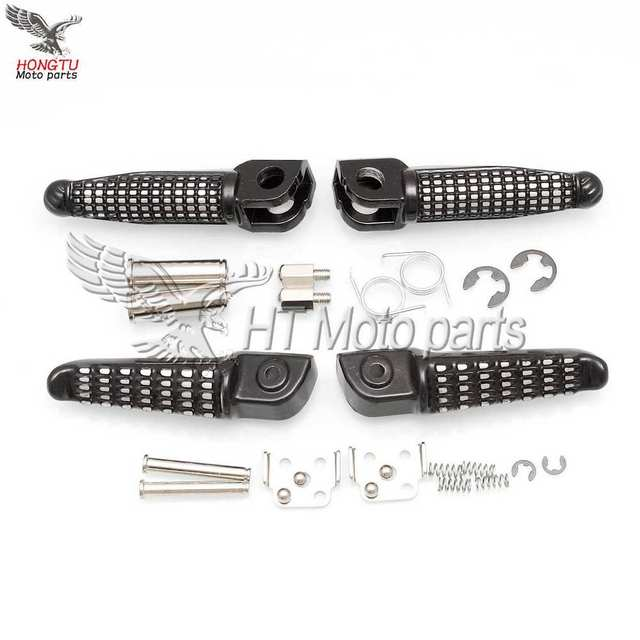 Motorcycle Front Rear Footrests Foot pegs For Kawasaki Ninja Z750 Z800 Z1000 SX ER6F ER6N ZX-6R 636 ZX-9R ZX-10R ZX-12R ZX-14R