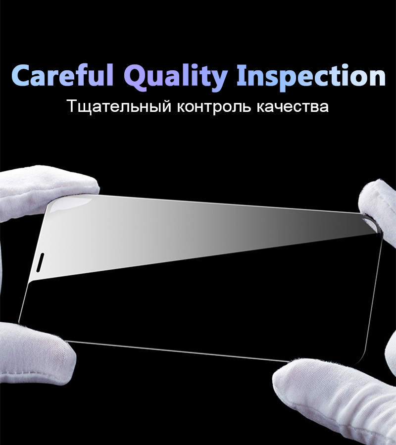 Hisomone 5D Tempered Glass On The For iPhone  Xs Max Xr Screen Protector Full Cover Protective Glass On For iPhone 7 8 6 6S Plus