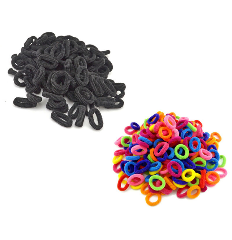 100Pcs / Lot Child Baby Small Rubber Bands Elastic Ponytail Holders Hair Ring Accessories Girl Rubber Bands Tie Gum