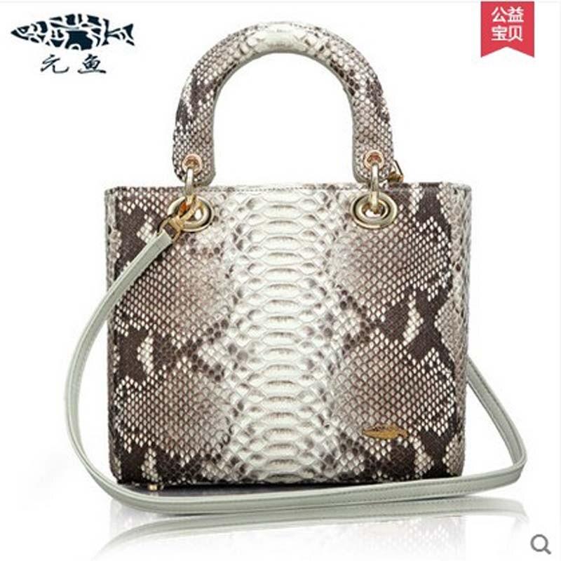 yuanyu new hot free shipping real Snake skin women handbag wrist bag women handbag fashion women bag