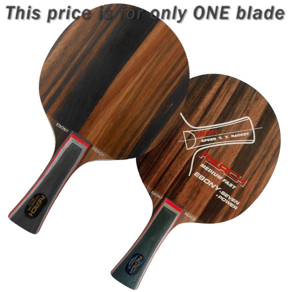 Reach Ebony-7+ Power Ebony 7+ Ebony7+ Medium-Fast Long Shakehand FL Table Tennis Blade for PingPong Racket 2015 The new listing