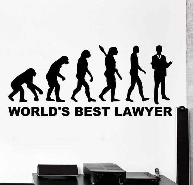 Decalques da parede Do Vinil palavras de amor o melhor advogado do mundo home office interior adesivos de parede de vinil 2BG17