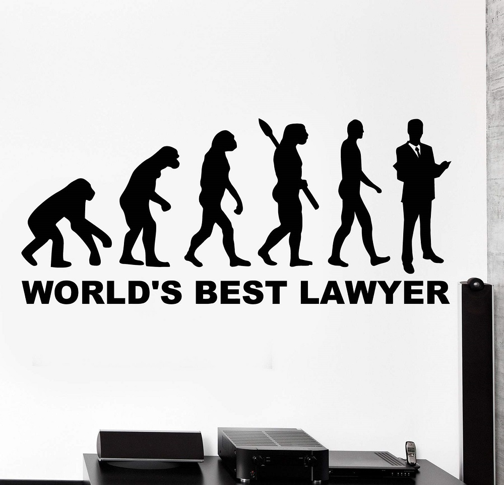 Wall Vinyl decals love words world best lawyer office home interior vinyl wall stickers 2BG17 in Wall Stickers from Home Garden