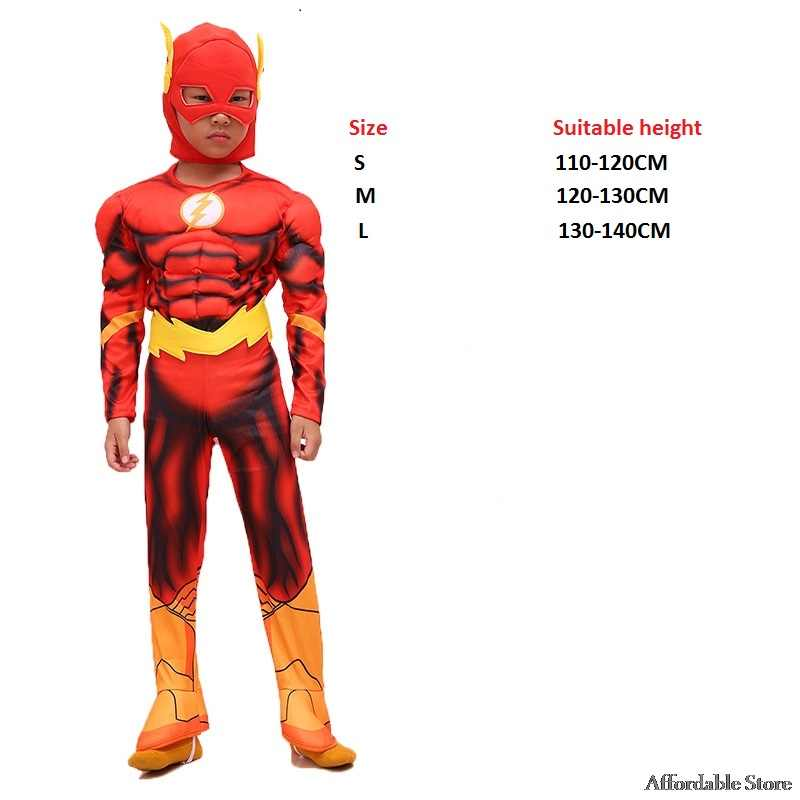 Flash cosplay hombre ropa para niños disfraz de Halloween héroe animación Flash Superman ropa