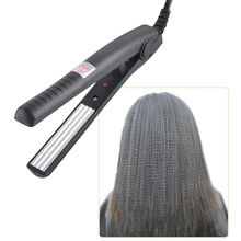 Electric Hair Straightener Corrugated Iron Hair Crimper Corn Plate Mini Ripple Corrugation  straightening Styling Tools недорого