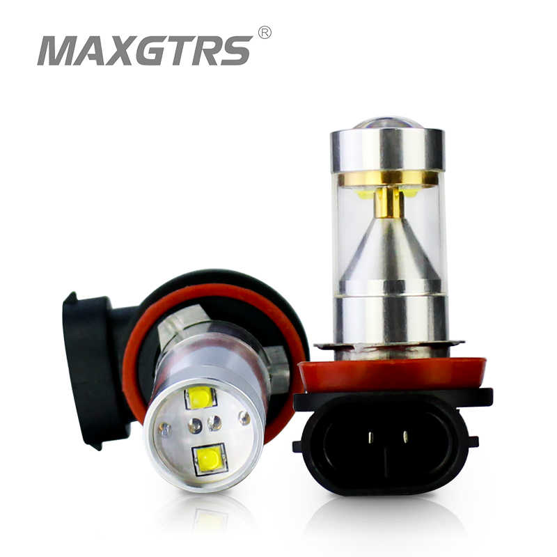 2x H1 H3 H16 H7 H8 H11 9005 9006 30W CREE Chip LED With Lens Fog Driving Lamp Bulb Auto Car DRL Sourcing Light White/Red/Amber