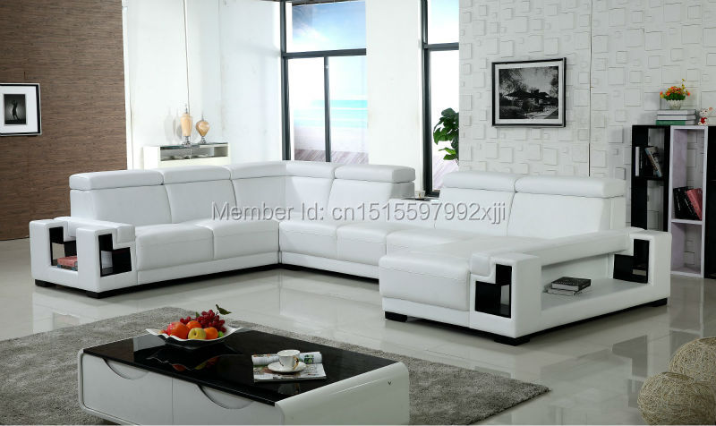 Modern Style Real Leather Sofa Set For Living Room Furniture Set Size(cm):