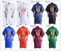 Manera de Las Mujeres Chinas de Satén de Seda Robe Bordado Del Kimono de Baño Vestido Dragón Sml XL XXL XXXL S0103-E