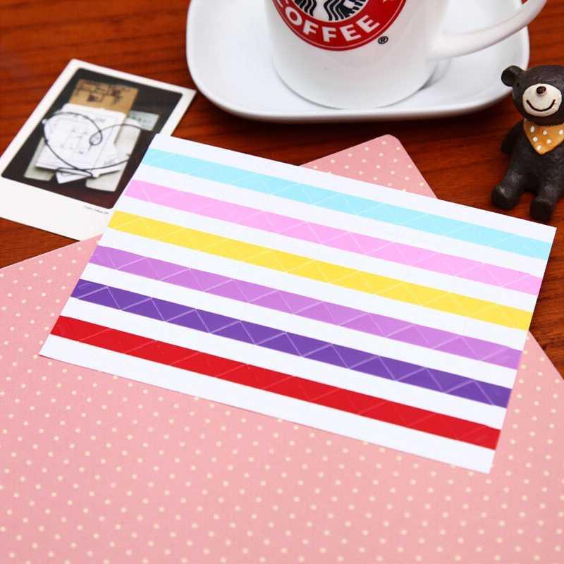 10 feuilles = 1020 pièces Instax Mini Haute fabriqué à La Main Matériel Album Décor Autocollant Rétro Pvc Coin Photo