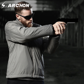 S.ARCHON Winter Warm Windbreaker Military Bomber Jackets Men Tactical Cotton Padded Jackets Outerwear Thermal Amry Coat Clothes