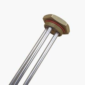 Image 4 - 220 v 1000 w elektryczny podgrzewacz ciepłej wody podgrzewacz rurowy zanurzenia elementu grzejnego 1 1/4 Cal zaslepka podgrzewacz z sondą rury