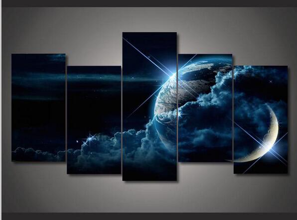 Outer space landscape canvas wall art home decoration 5 for Outer space decor