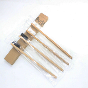 Image 3 - 100 Pieces 4 color 100% Bamboo Toothbrush Wood toothbrush Novelty Bamboo soft bristle Capitellum Bamboo Fibre Wooden Handle