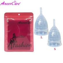 2Pcs(S+ L)Feminine Hygiene Menstrual Cup 100%Medical Grade Silicone Copo de Medica Reusable