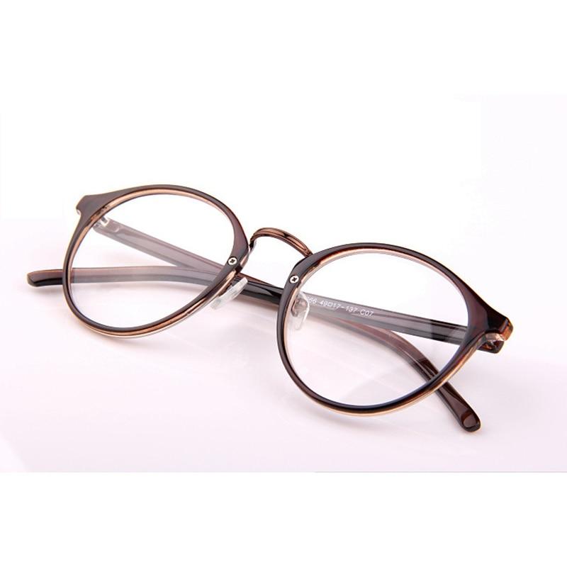 Retro Okrągłe Ramki do czytania Okulary Mężczyźni Kobiety - Akcesoria odzieżowe