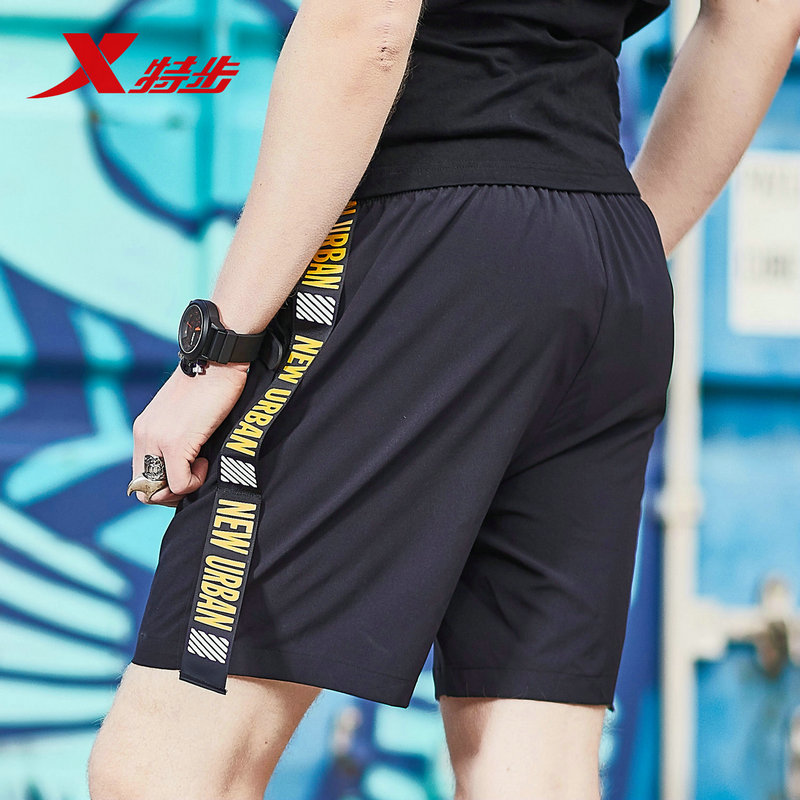 882229679139 xtep men training shorts sports fitness running woven shorts 2018 summer thin black shorts for men