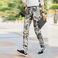 New Arrival Casual Mens Army Camo Pants Canvas Cargo Trousers Men Workout Pant Camouflage Combat Slim