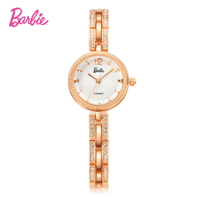 2019 New Barbie Delicate Woman Watches Fashionable Round Shape Case And Alloy Clasp Hook Buckle Quartz Watch For Woman Gift