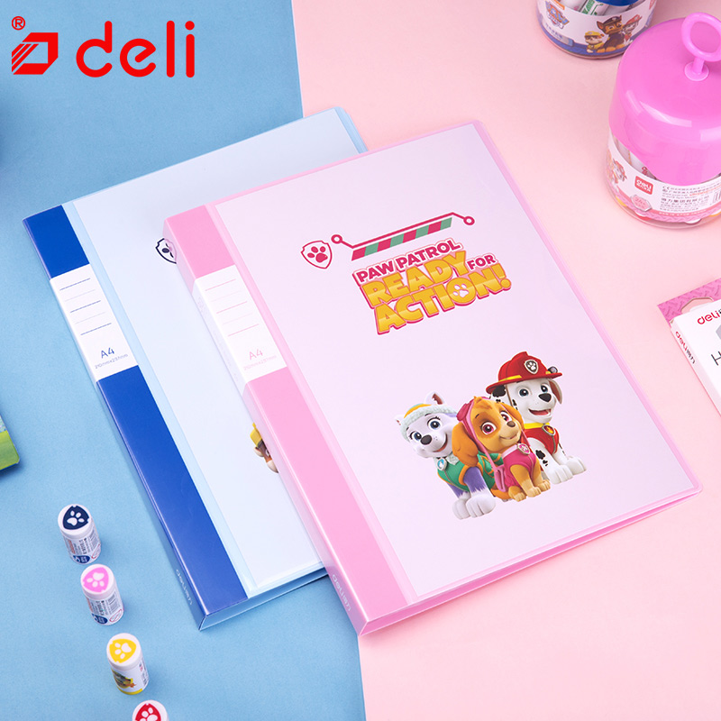 Deli 1 PC Cute stationery File Folder A4 30/40/60 Pages waterproof Expanding Wallet Convenient Manage Holder Document Expanding admin manage