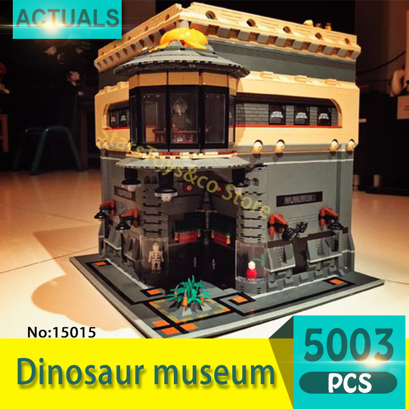 цены 15015 5003Pcs Street View series Dinosaur museum Model Building Blocks Set  Bricks toys For Children  Gift