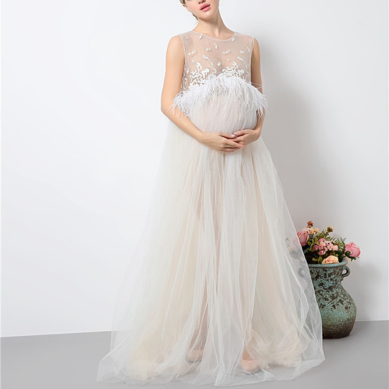 b158682cd01ff Maternity White Lace Dresses for Baby Showers Pregnancy Photography Props  Clothes Pregnant Women Gown Photo Shoot. sku: 32829716793