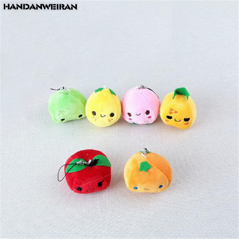 1PCS Fruit Plush Peach Toys Mini Cute Soft Stuffed Pear Toy Small Pendant Children Kids Playmate Valentine Gifts Unisex Hot 8CM