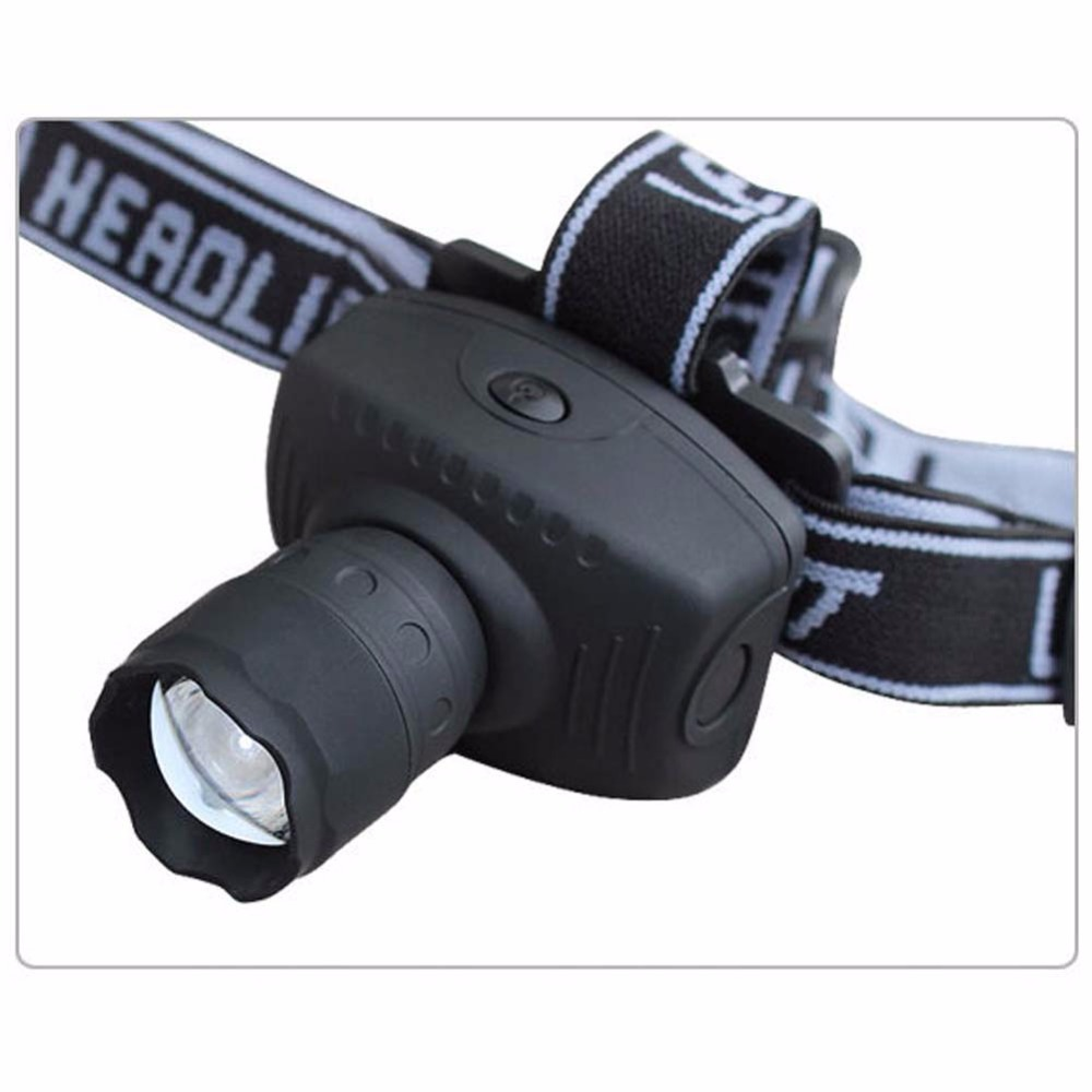 2016 New Portable 3W LED Zoomable Headlamp AAA Head Torch Light Flashlight 3-Mode