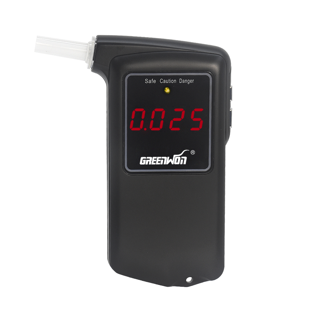 2016 Venta caliente de alta precisión Prefessional Police Breath Digital Tester de alcoholemia Alcoholímetro AT 858S Freeshipping Dropshipping