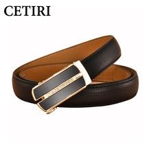 90-120cm Durable Woman Automatic Buckle Belt Black Belts For Women Classic Genuine Leather Belt Straps High Quality Ceinture