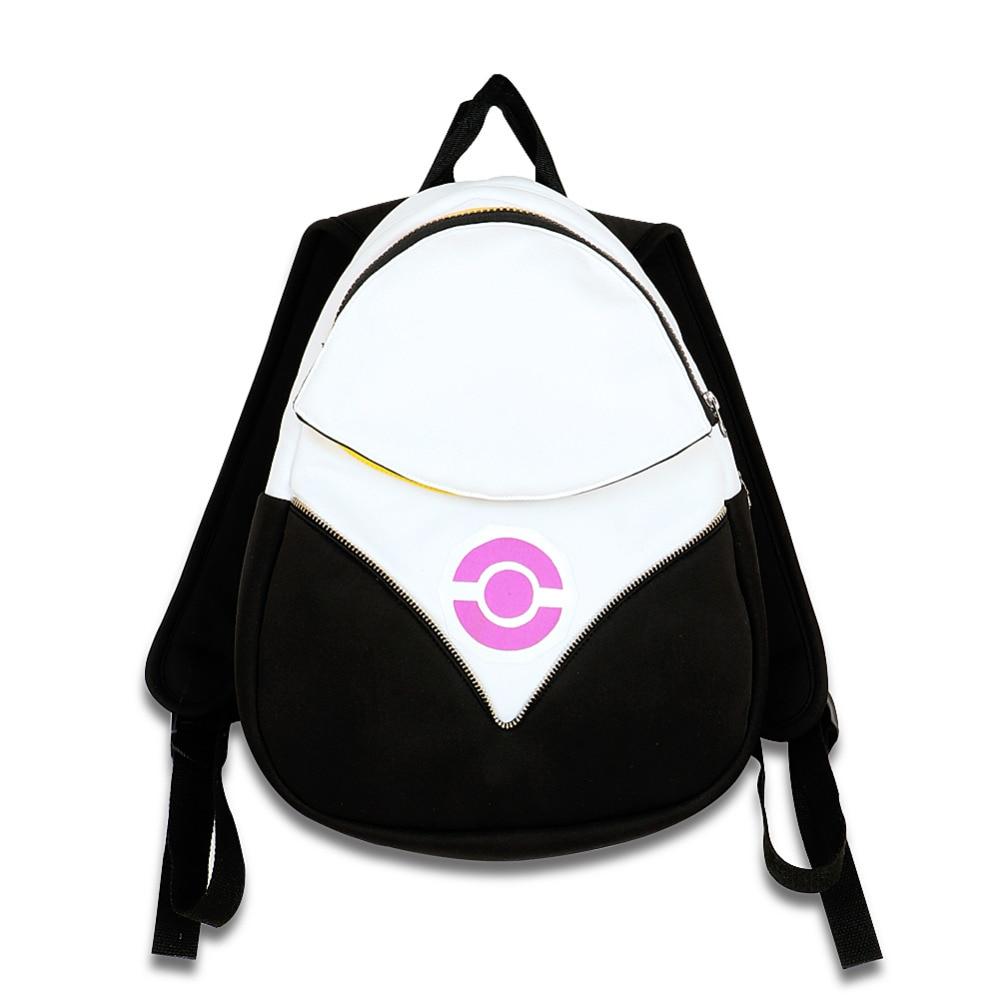 Halloween Pokemon Go mochila pokeball bolsa equipo valor Instinct Mystic  purpul Pocket Monster cosplay de uso diario bolso de escuela en Accesorios  ... 3fb225e4cfb2
