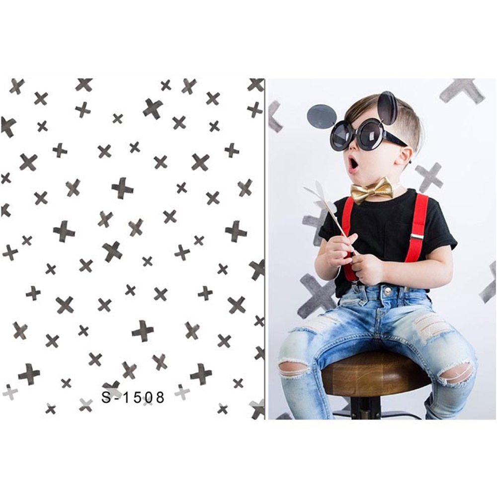 Baby Boy Backdrop Printed Cross Patterns Newborn Photography Props Kids Children Photo Studio Background Fundo Fotografico