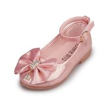 Elegant Children Shoes Girls Sandals Shiny Gold PU Leather Girls Shoes  Wedding Dress Dance Kids Shoes 399af1fab35f