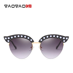 f0d0df2fd7 TAOTAOQI Designer Shape Pearl Sun Glasses UV400