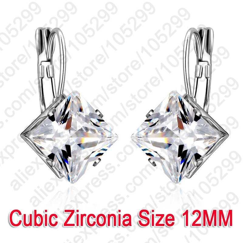 Món Quà lãng mạn cho Duyên Dáng Nữ AAA Cubic Zirconia D'oreille Tòn Ten Hoa Tai Nữ Bạc 925 Cao Cấp Tiêu Chuẩn Hàng Thủ Công