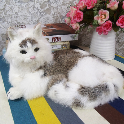 simulation cute lying cat 32x23x15cm model polyethylene&furs mixed coloured cat model home decoration props ,model gift d701 large 21x27 cm simulation sleeping cat model toy lifelike prone cat model home decoration gift t173